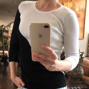 White House Black Market Sweaters - WHBM Black&white pullover; size XS; 3/4 sleeves